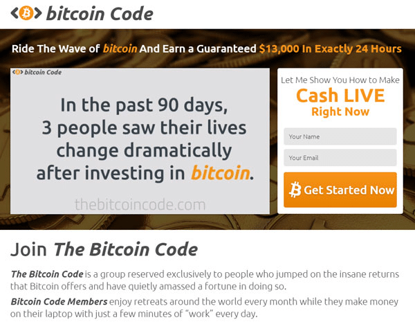 Bitcoin Code Is Bitcoin Code Legit? The Verdict!