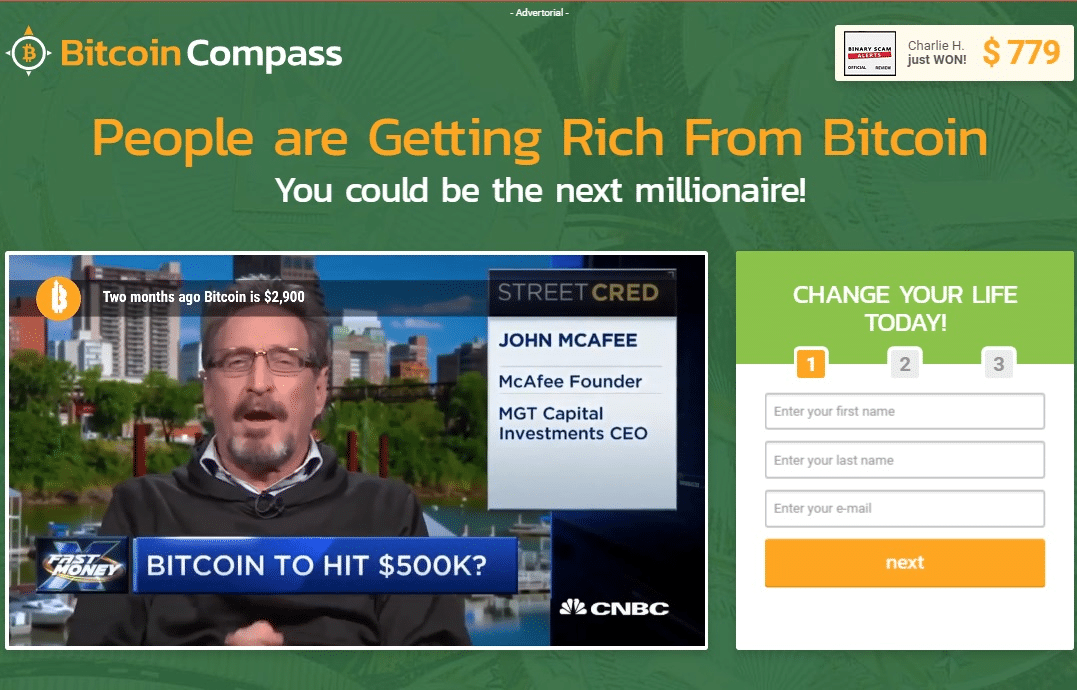 Bitcoin Compass How to sign up with Bitcoin Compass?