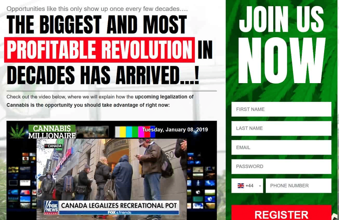 Cannabis Millionaire How to sign up with Cannabis Millionaire?