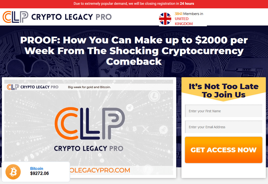 Crypto Legacy Pro How to sign up with Crypto Legacy Pro?